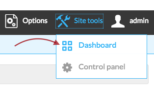 dashboard selected on the toolbar.png
